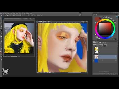 Digital Painting - Portrait Katie Westwood (photoshop) - timelapse