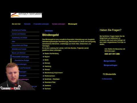 Videoantwort auf combattant zum Blindengeld (Hilferuf.de Forum)