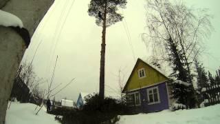 Спилить дерево на дачном участке в ограниченном пространстве г. Архангельск(Очередная сосна, которую приговорили хозяева участка по причине возможного падения во время сильного ветр..., 2014-02-10T14:16:17.000Z)