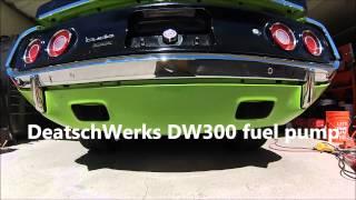 sound test of a walbro gss 340 fuel pump and a deatschwerks dw 300 fuel pump