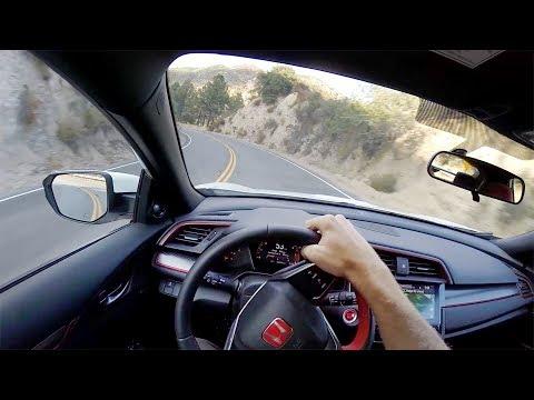 2017 Honda Civic Type R - POV Canyon Drive (Binaural Audio)
