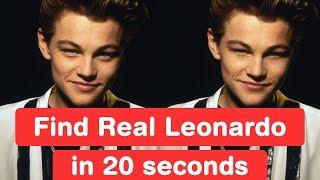 Find Real Leonardo DiCaprio in 20 seconds! Titanic Challenge