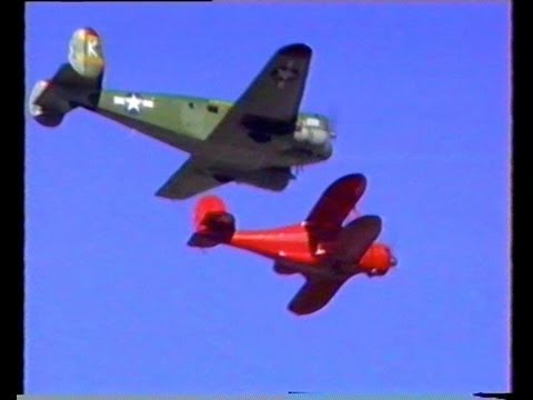 Beech 17 & 18 Vintage Airplane Display New Zealand 1996.