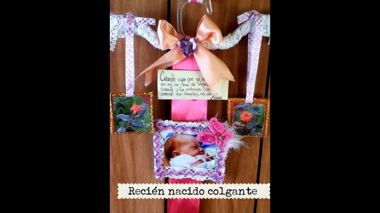 colgante para bienvenida de bebe recin nacido hanger baby phonto encaje listn