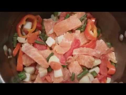 Овощной  суп из семги от Жанны