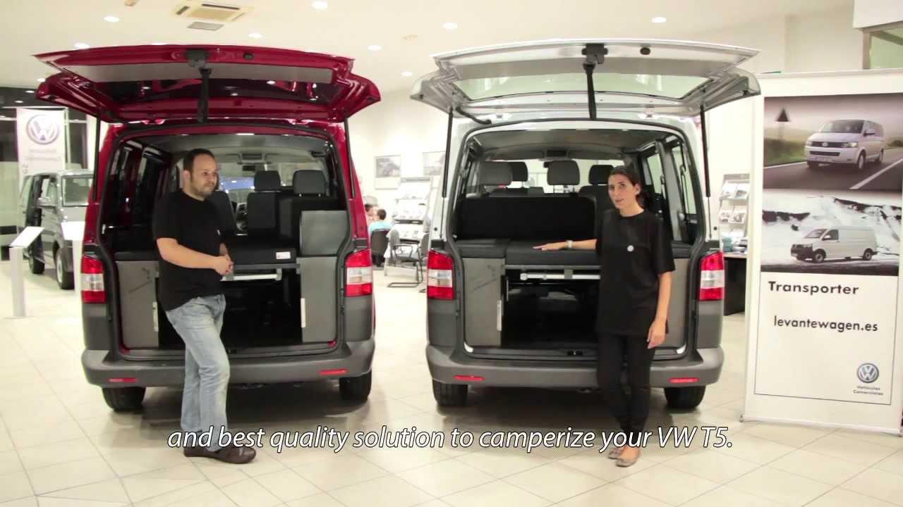 Kit Cama De Furgomania Para Vw Transporter T5 Youtube