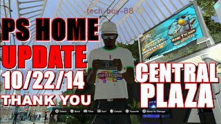 PS Home Update 10/22/14 Central Plaza Returns