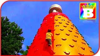 HUGE MOUNTAIN!!! Outdoor INFLATABLES PLAYGROUND. Play Park Kids FUN Playing Area Bogdan`s Show
