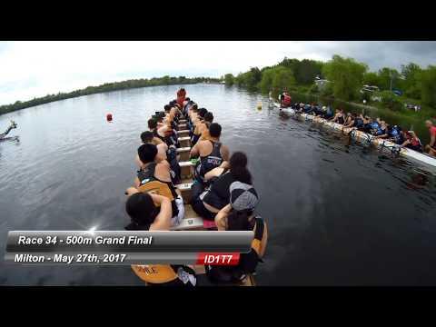 Milton Dragon Boat Race Festival 2017: Race 34 - 500m Grand Final - Iron Dragons Gold