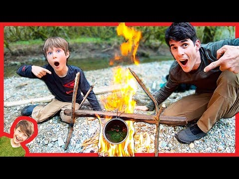 Father Son Nick's Sticks Survival Soup Adventure!