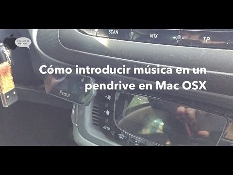 Cómo introducir música mp3 en un pendrive en Mac OSX