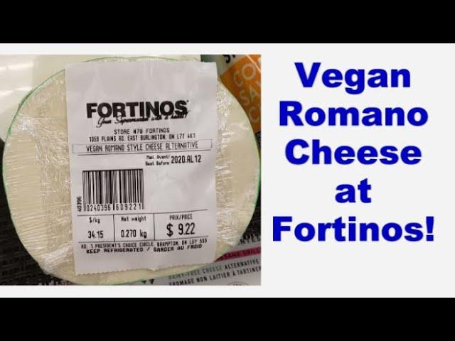 Vegan Romano Cheese At Fortinos Youtube