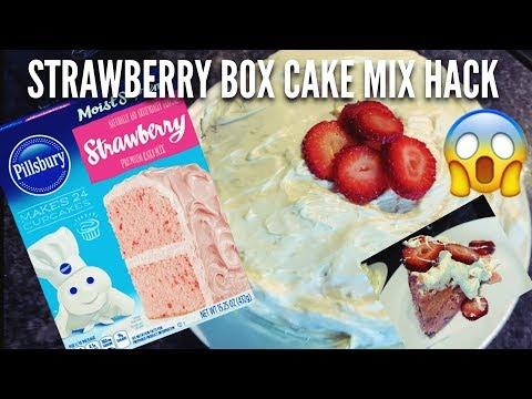 STRAWBERRY BOX CAKE MIX HACK