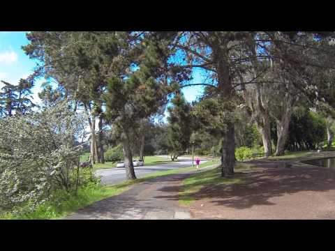 San Francisco - Golden Gate Park - Lloyd Lake and Waterfall - Wasserfall am Llyodsee