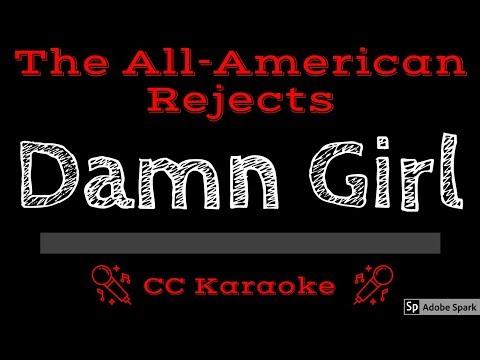 The All-American Rejects • Damn Girl (CC) [Karaoke Instrumental Lyrics]