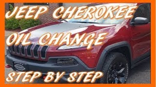 How To Change Oil in 2017 Jeep Cherokee Trailhawk (3.2L V6)