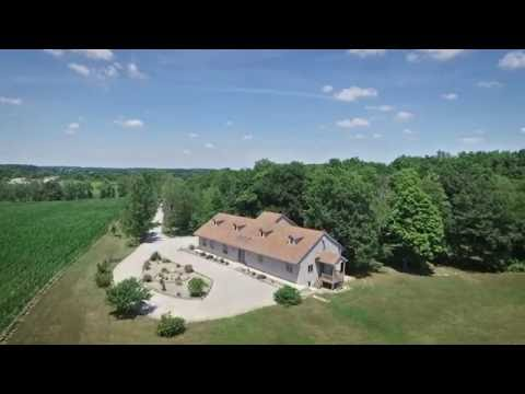 1880 County Road 18 Waterloo, Indiana 46793 Aerial Video