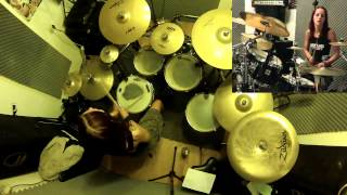 Lucinda Villain-Damned in the Deep South Drum Cover-Hit Like A Girl 2015