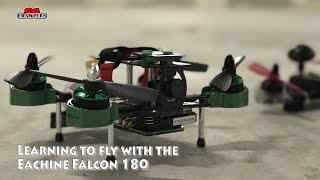 learning to fly with the eachine falcon 180 racing drone on angle mode