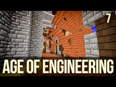 Water Wheel Immersive Engineering | Age of Engineering | Episode 7
