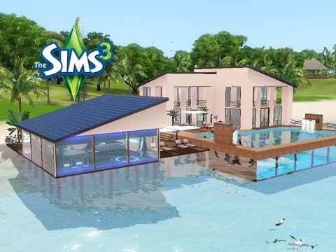sims 3 haus bauen let 39 s build traumhaus mit pool im meer youtube. Black Bedroom Furniture Sets. Home Design Ideas