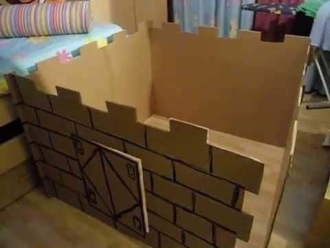 Manualidades construye tu propio castillo de carton for Hacer tu casa en 3d
