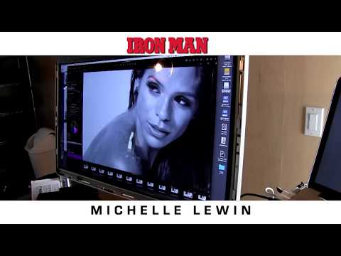 MICHELLE LEWIN Behind the Scenes Shoot for IRON MAN MAGAZINE