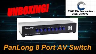 8 Port RCA switch box by Panlong unbloxing!