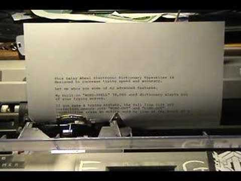 brother sx 4000 electric typewriter demo youtube rh youtube com Brother SX-4000 Manual Owners Brother SX-4000 Electronic Typewriter