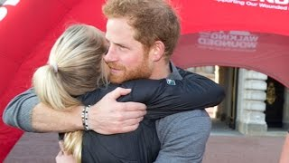 Prince Harry's Emotional Moment With an Injured U.S. Marine