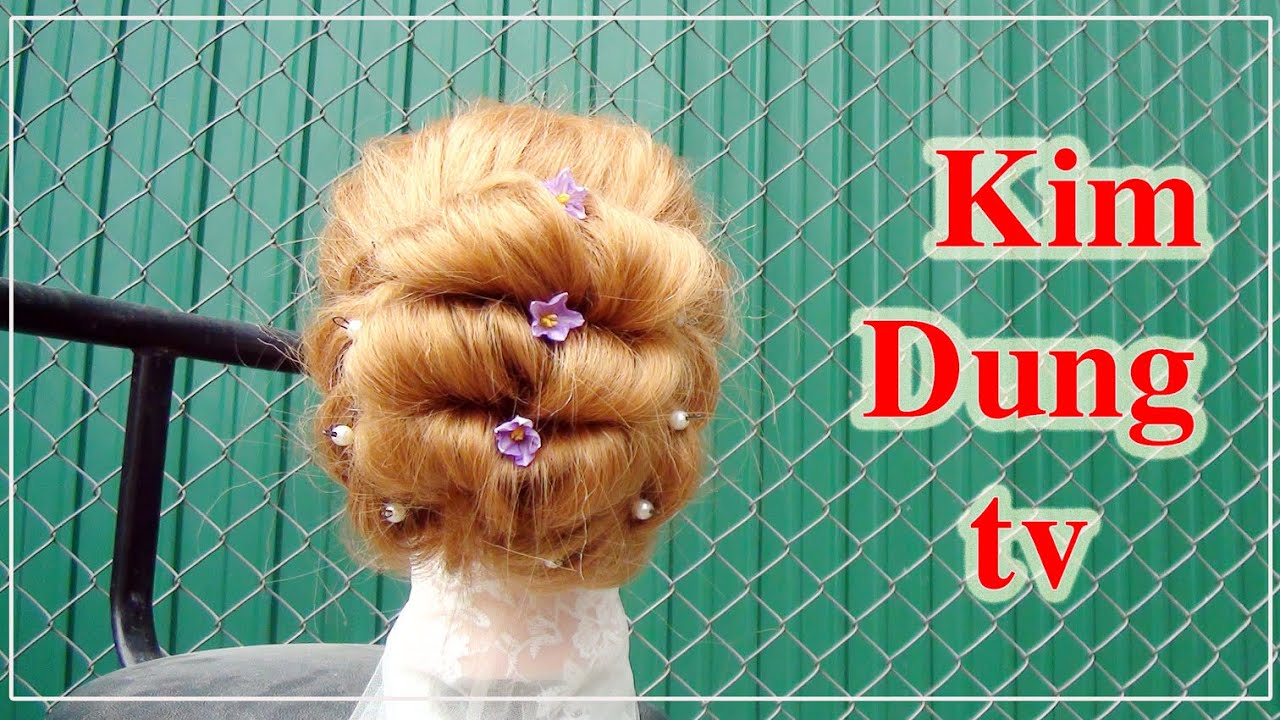 Búi tóc đẹp cho đám cưới-Kim dung tv-Beautiful chignon for the wedding