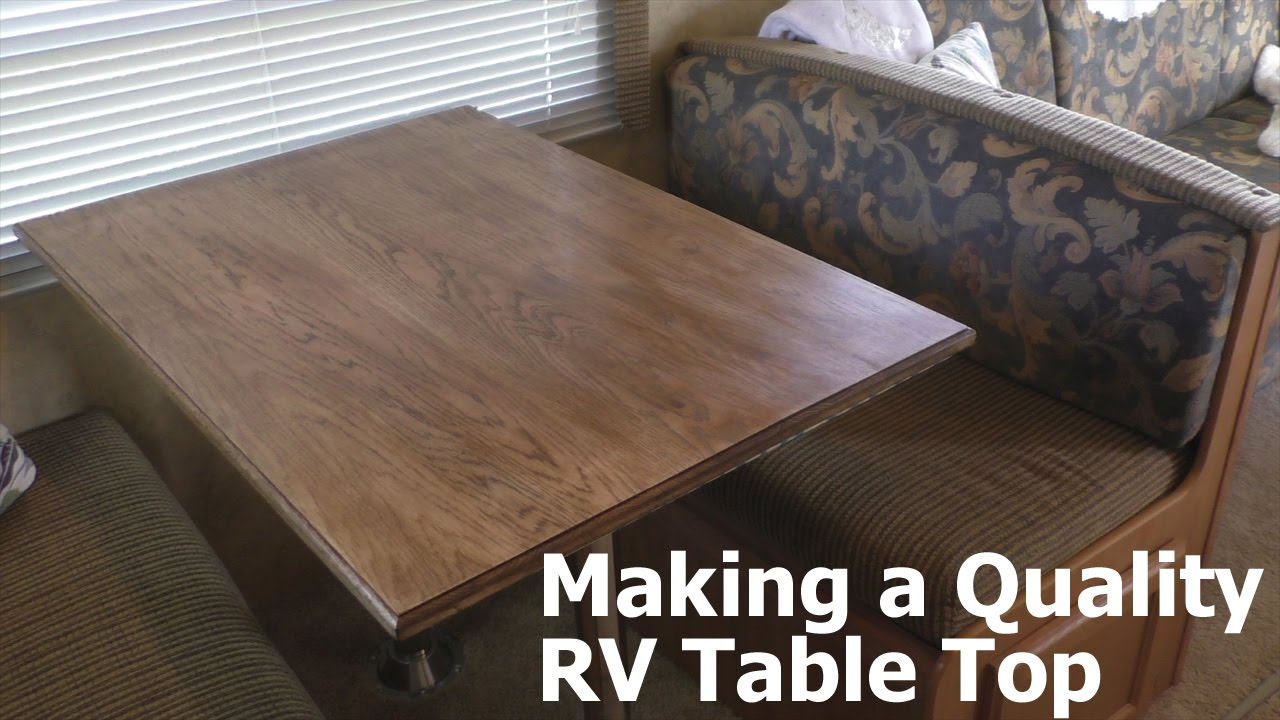 Replacing An RV Table Top With White Oak