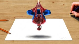 3D Colored Pencil Drawing: the Amazing Spider-Man 2 - Speed Draw | Jasmina Susak