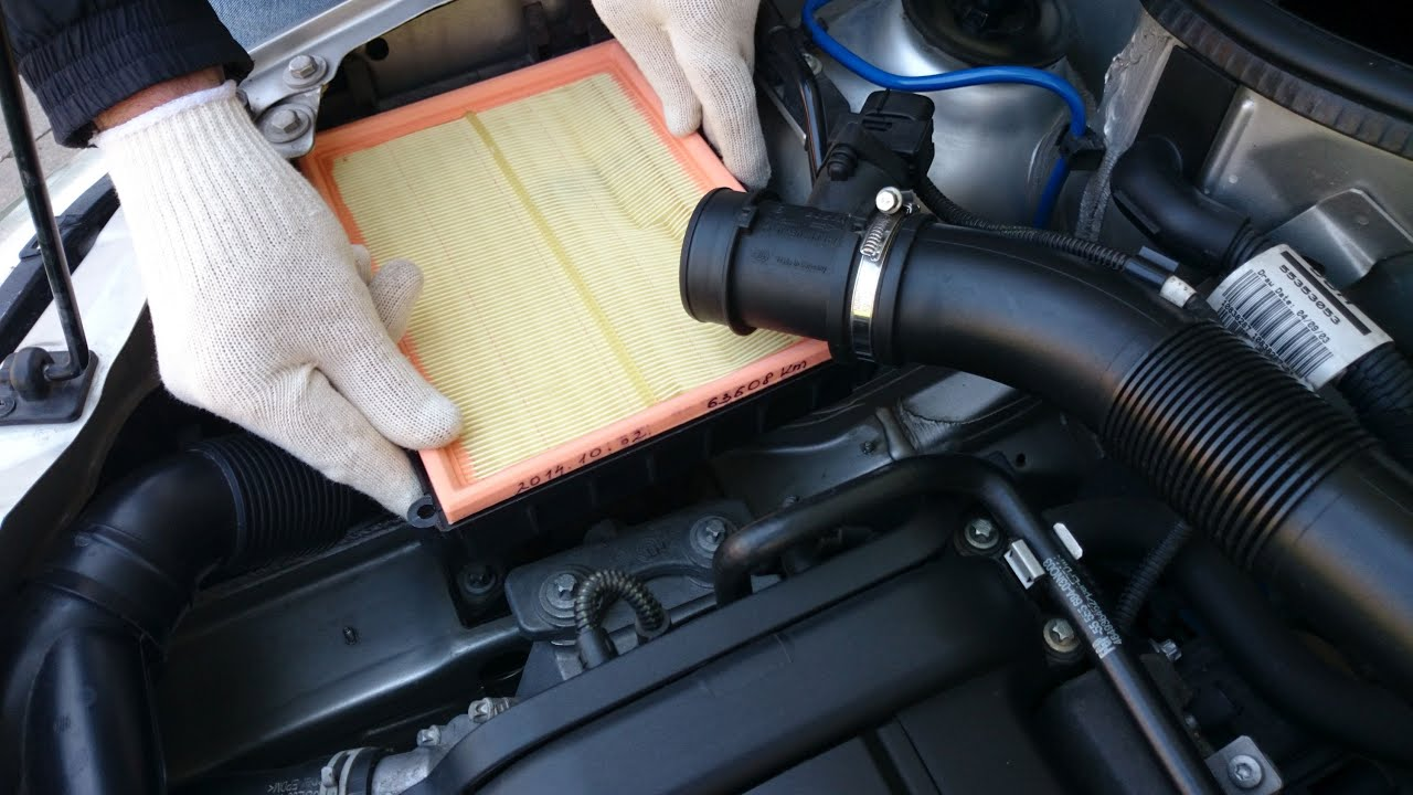 Opel Corsa Air Filter Replacement Youtube