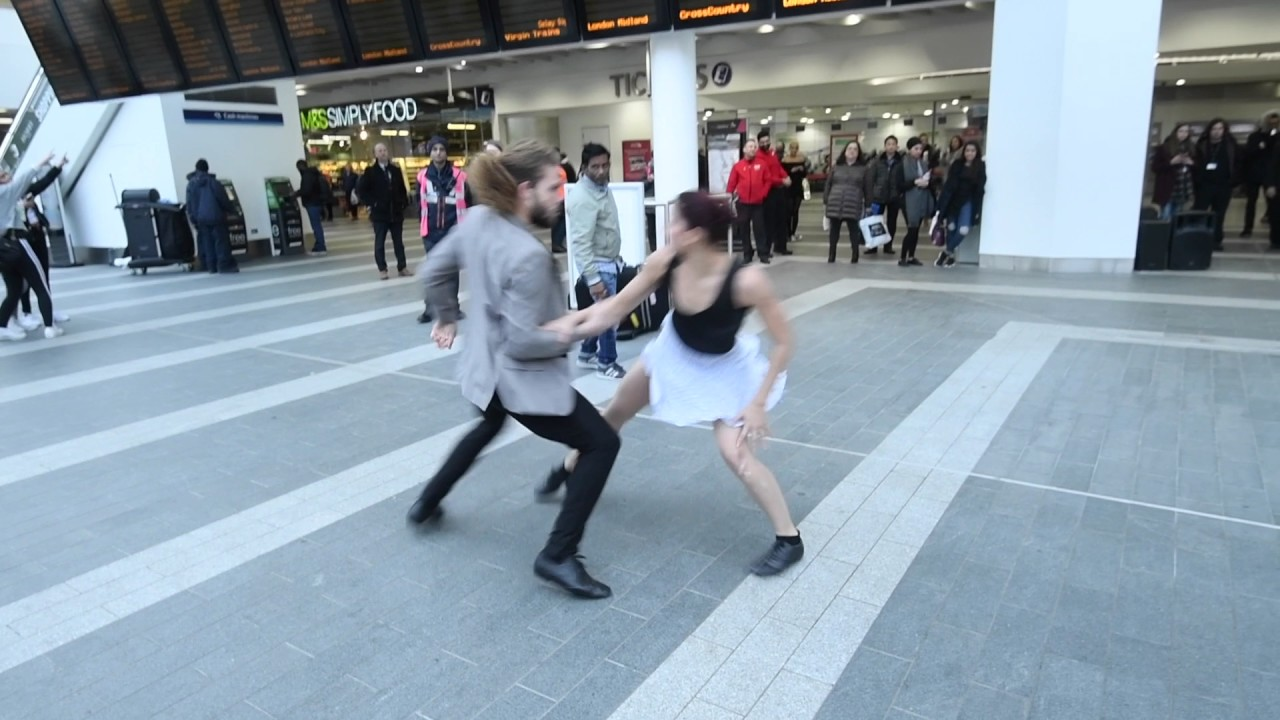 Dancing in   New Street  Dance Sampled Tea Time Takeover