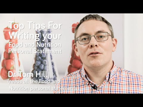 How To Write A Personal Statement For Food And Human Nutrition