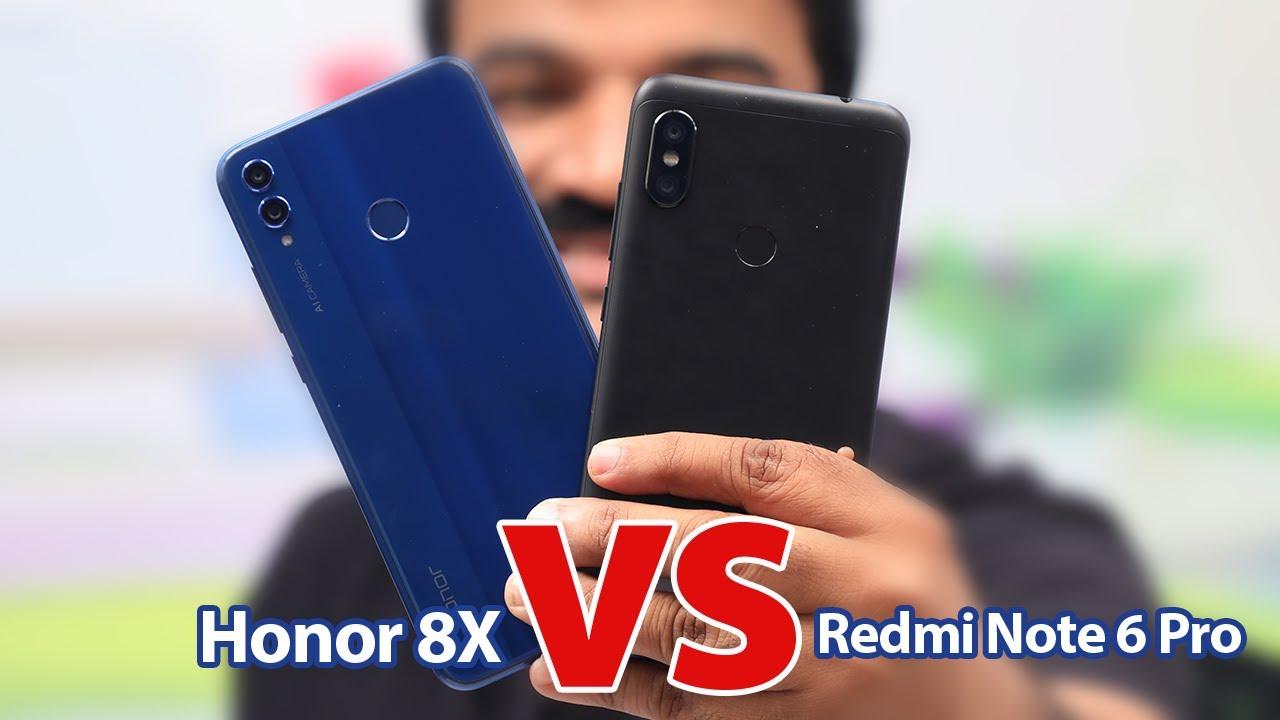 Honor 8X vs Redmi Note 6 Pro Comparison Malayalam