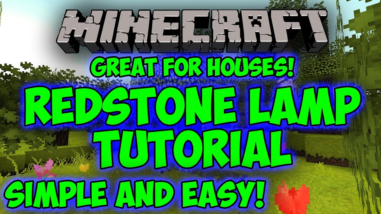 Redstone Wiring Tutorial Minecraft Lamp Easy And Simple Extremely Basic