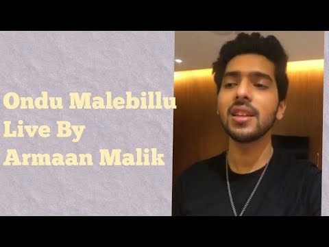 Ondu Malebillu Live by - Armaan Malik | Chakravarthy | Darshan