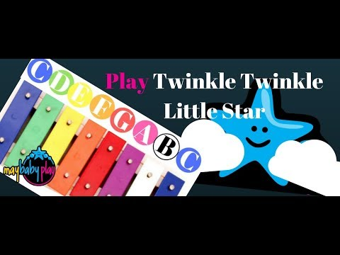 How to Play Twinkle Twinkle Little Star on Xylophone | Learn Kids Songs EASY & FAST | May Baby Play