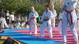 Nana Taekwondo 1.opvisning orange bælte ♡