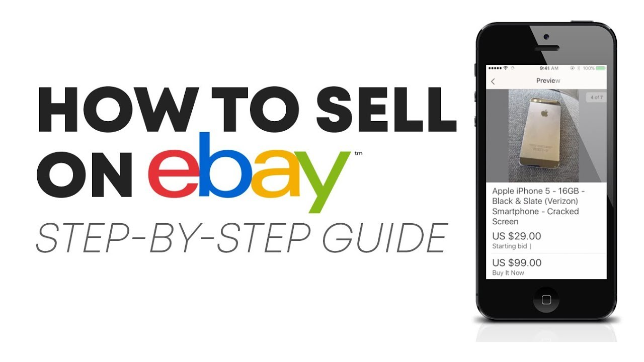 How To Sell On Ebay For Beginners Step By Step Guide Youtube