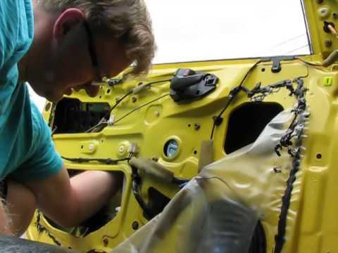 How to install window regulator & motor 2002 Mitsubishi Lancer OZ Rally  YouTube