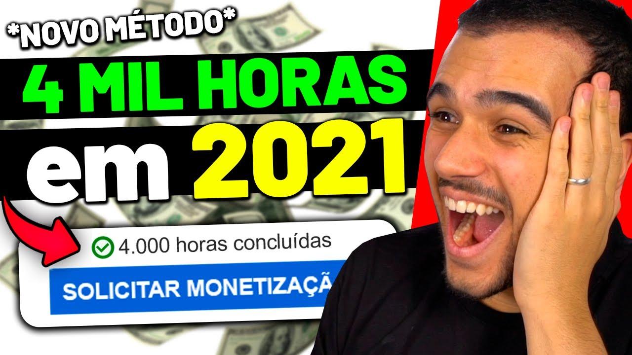 Novo MÉTODO para conseguir 4 MIL HORAS E MONETIZAR AINDA EM 2021!!