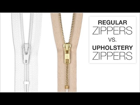 Comparing Regular Zippers & Upholstery Zippers