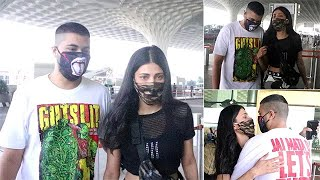 Shruti Haasan Gets Papped With Beau Santanu Hazarika As He Comes To Drop Her Off At Airport