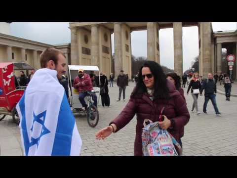 Publicly Walking With Israel's Flag In Berlin