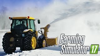 SPALIAMO LA NEVE DEL PAESE w/Poderak - FARMING SIMULATOR 17 GAMEPLAY ITA