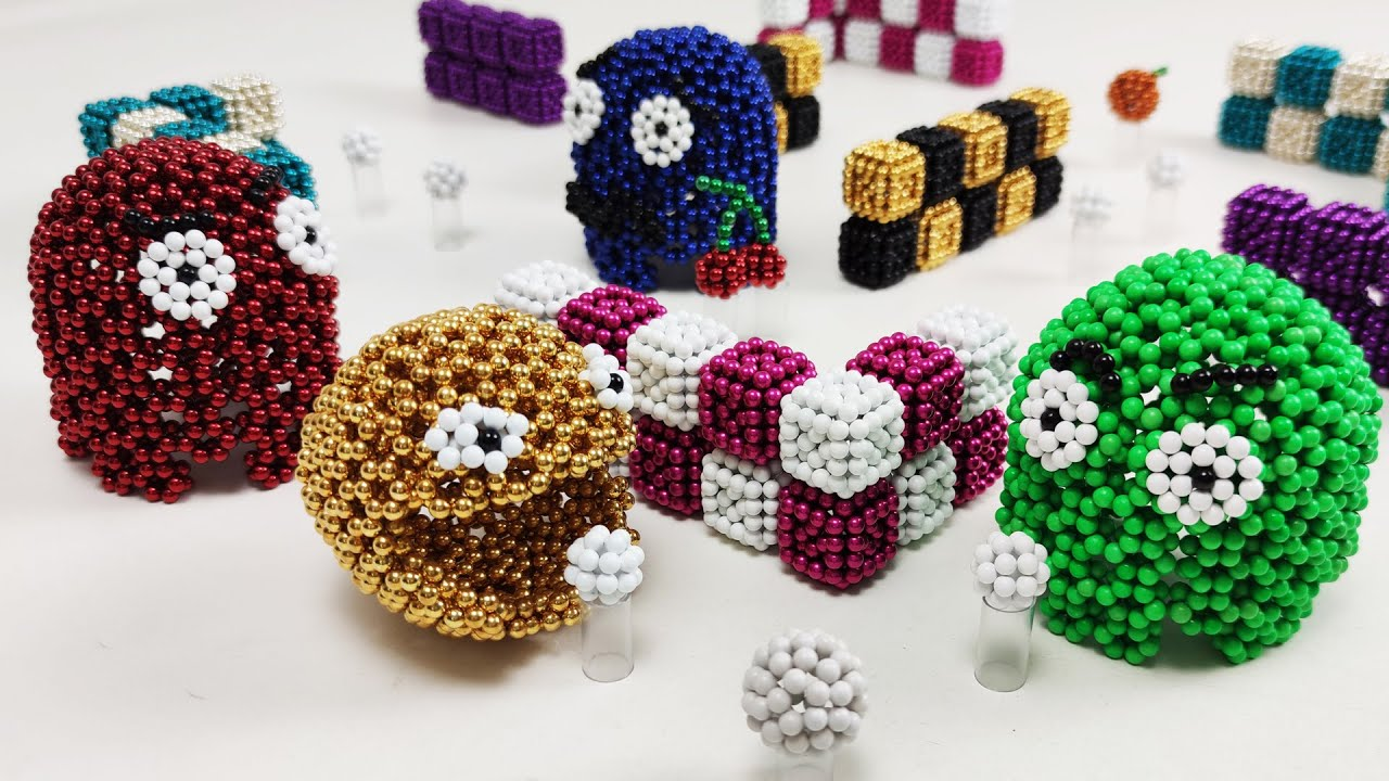 Pacman made of magnetic balls in stop motion | Magnetic Games