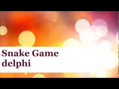 Snake Game With Delphi